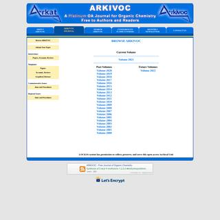 ARKAT USA, Inc. - Publisher of ARKIVOC (Free Journal of Organic Chemistry)
