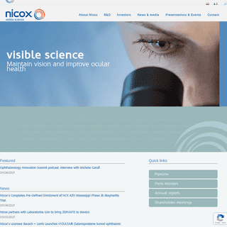 Visible science - Nicox.com