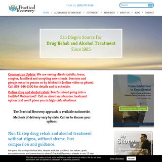 Drug Rehab & Alcohol Treatment - San Diego - Non 12 Step