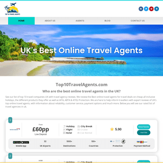 Top10TravelAgents.com - Best Travel Agency Reviews UK