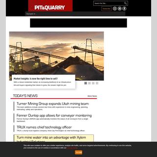 Pit & Quarry - Equipment - Operations - Solutions - Pit & Quarry