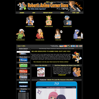The Anime Corner Store - Your Online Anime Superstore!