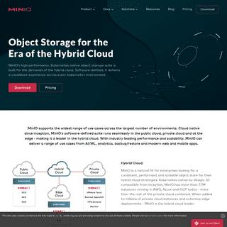 MinIO - High Performance, Kubernetes Native Object Storage