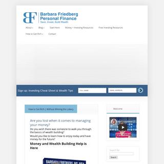 Barbara Friedberg Personal Finance