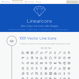 Ultra Crisp Vector Line Icons (SVG, PNG, PSD, CSH, EPS, Icon Font and more)