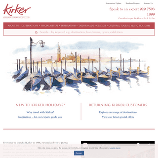Luxury Short Breaks - Cultural Tours - City Breaks - Kirker Holidays