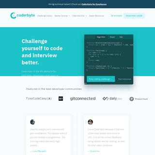Coderbyte - Code Screening, Challenges, & Interview Prep