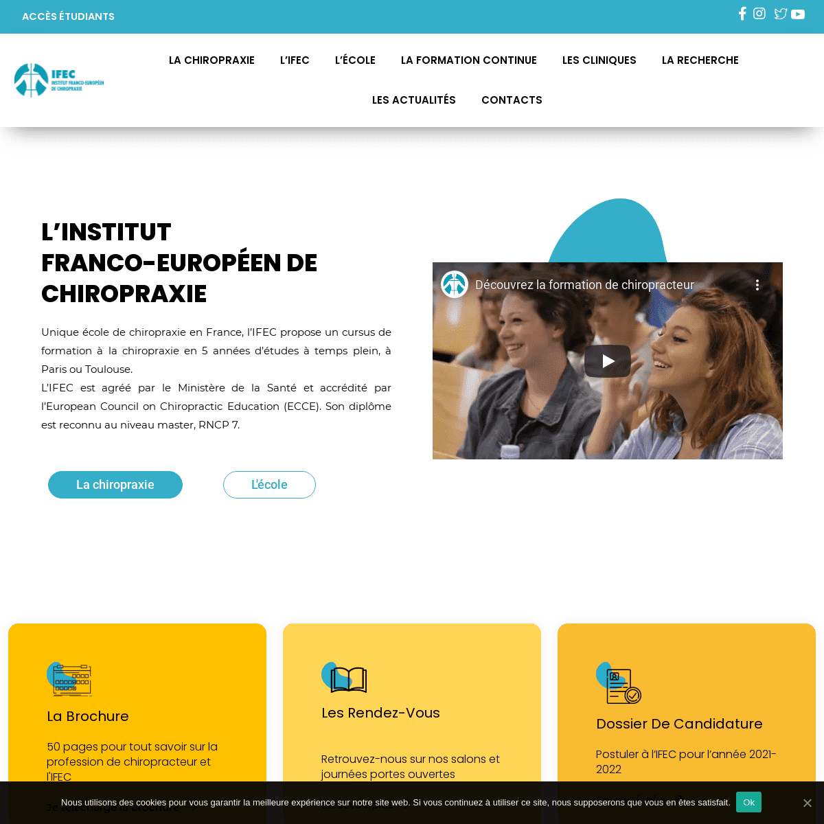ACCUEIL - IFEC Unique école de Chiropraxie en France
