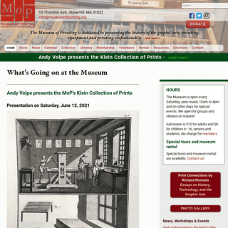 The Museum of Printing, Haverhill, Massachusetts
