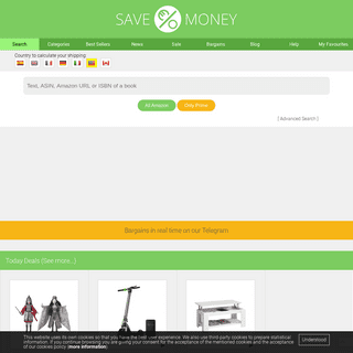 Savemoney. Comparator Amazon in all its stores in real time