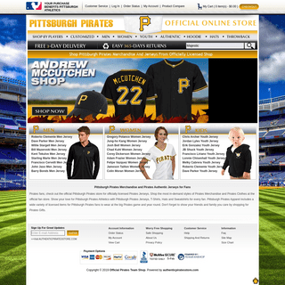 Official Majestic Pirates Jerseys On Sale - MLB Pittsburgh Pirates Team Shop