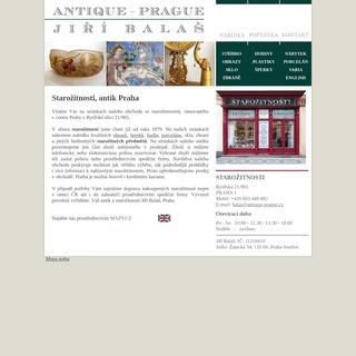Starožitnosti, antik Praha - antique-prague.cz