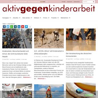 Aktiv gegen Kinderarbeit – Eine Kampagne von earthlink e.V.