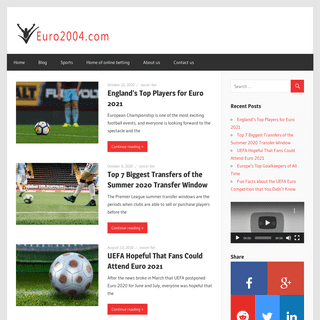 Sports & Fun with euro2004.com – Football Players