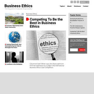 Business Ethics - The Magazine of Corporate Responsibility