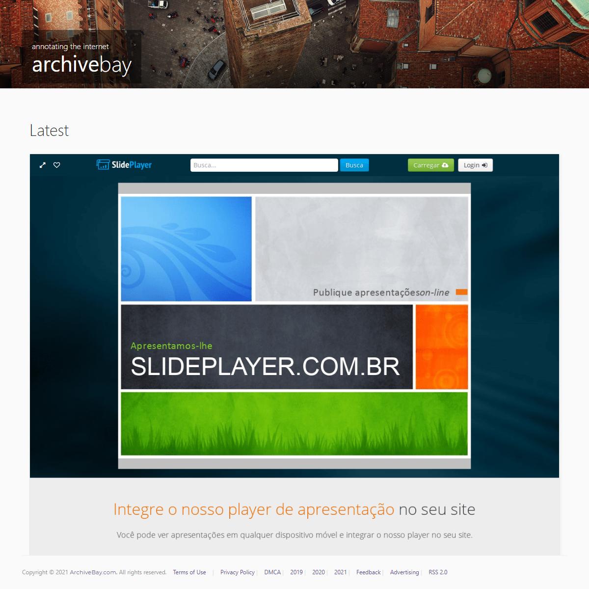 SlidePlayer – carregue e compartilhe suas apresentações PowerPoint