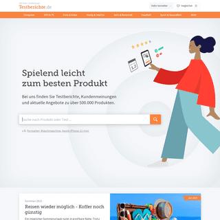 Testberichte.de ▷ Mit besten Empfehlungen zum passenden Produkt
