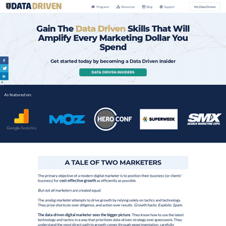 Gain The Data Driven Skills That Will Amplify Every Marketing Dollar You Spend