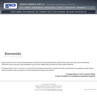 Equipos AMHER - Especialistas en fabricación de carrocerías y remolques