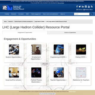 LHC (Large Hadron Collider) Resource Portal - Science and Technology Facilities Council