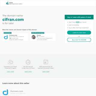 The domain name cifran.com is for sale