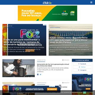 O maior portal de notícias de Foz do Iguaçu - Clickfoz do Iguaçu