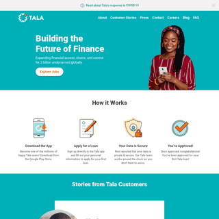 Homepage - Tala