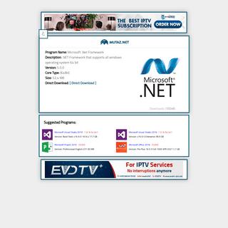Microsoft .Net Framework 5.0.0Download Page