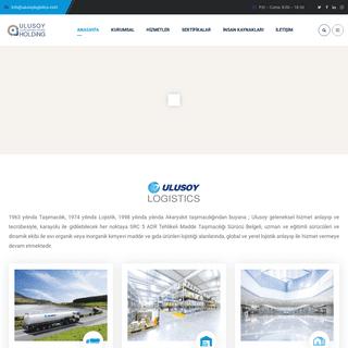 Ulusoy Uluslararası Yatırım Holding - Ulusoy Logistics - Anasayfa