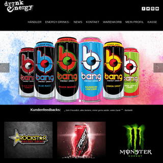 Energy-Drink Online Shop Schweiz - Die besten Energy-Drinks der Welt