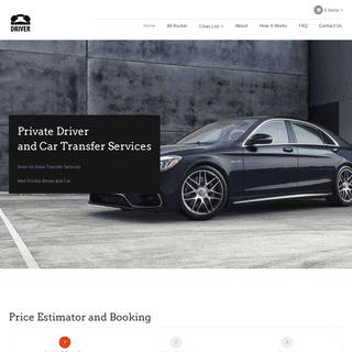 Private Driver - Private Transfer - Private Car Services