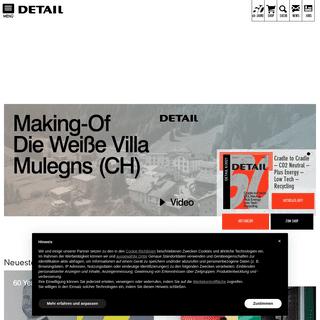 Start- DETAIL - Magazin für Architektur + Baudetail