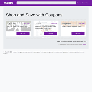 Shop and Save with Coupons and Promo Codes - ThinkUp