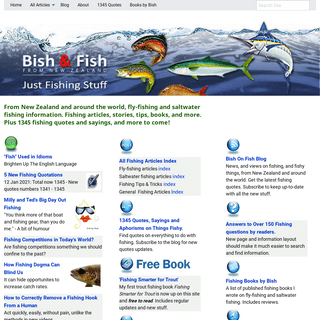 Bish and Fish From New Zealand Home Page