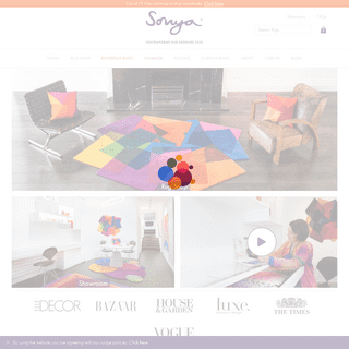 Vibrant Contemporary Rugs - Sonya Winner Contemporary Rug Studio