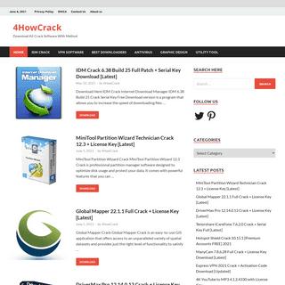 4HowCrack - Download All Crack Software