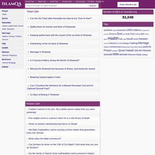 IslamQA - Search for Islamic Q&A from four Madhhabs