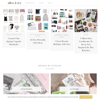 Olive & Ivy - Clean beauty, fashion and travel