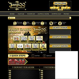 JanjiQQ Situs Judi Poker Dominoqq Bandarq Online Terpercaya 2020
