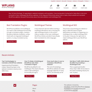 WordPress Multilingual - WPLANG