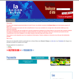 La Saison Bleue Toulouse 19-20 - Itinérance Musicale - Toulouse