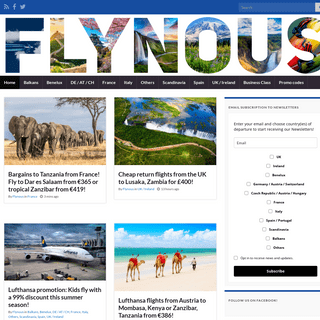 Tips for cheap flights and promo deals - Flynous.com