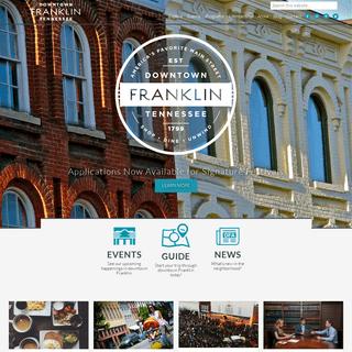 Downtown Franklin TN - America`s Favorite Main Street!