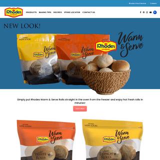 Rhodes Bake-N-Serv – Home of America`s Favorite Frozen Dough