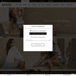 Welcome on GUESS® Official Online Store