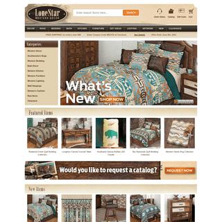 Western Decor, Western Bedding, Western Furniture & Cowboy Decor - Lone Star Western Decor
