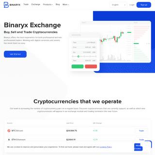 Binaryx Digital Asset Exchange - Buy Bitcoin (BTC), ETH, LTC, BCH, XRP