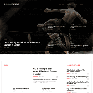 Scrapdigest - Latest MMA NEWS 🥊