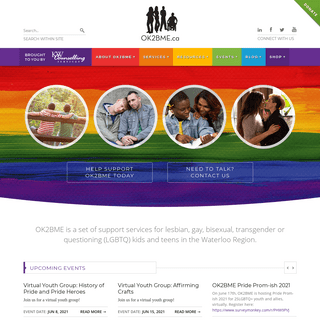 OK2BME - Support for LGBTQ Youth (Lesbian, Gay, Bisexual, Transgender)