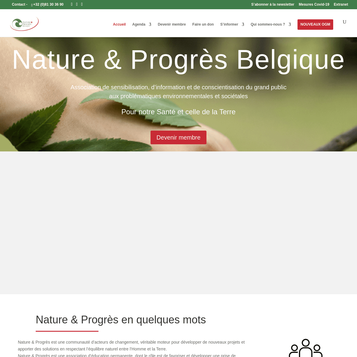 Accueil - Nature & Progrès